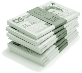 Decoration - Photo of a pile of bank notes